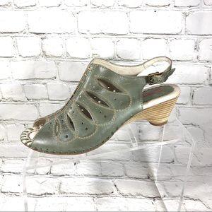 Pikolinos Green slingback sandals sz 38